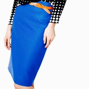 J.CREW Cobalt blue No. 2 Pencil Skirt Womens 00
